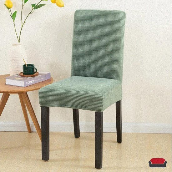 Knitted Eetkamer Stoelhoes - Groen - Hoes voor uw stoelen - Set van 2/4/6
