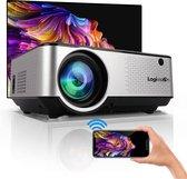 Logivision C9 FULL HD Beamer - 6500 Lumens - Mini Projector - Streamen met Telefoon Via Wifi - Afstandsbediening - Inclusief Projectiescherm