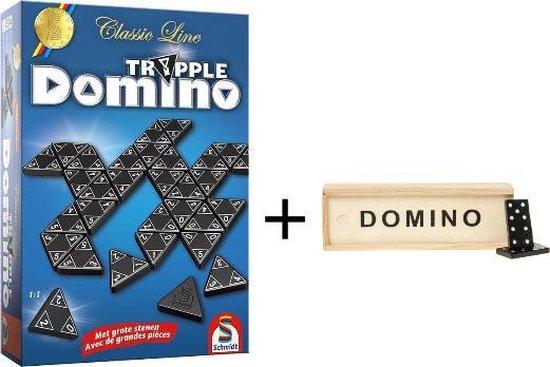 Afbeelding van het spel Tripple Domino & Mini Domino | Classic Line Tripple Domino