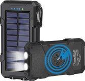 Tech Nique Solar Powerbank - Professionele Solar Powerbank – Draadloze Oplader Android only – Telefoon, Laptop en Tablet - 20.000 mAh – USB C – geschikt voor Android toestellen - Zwart