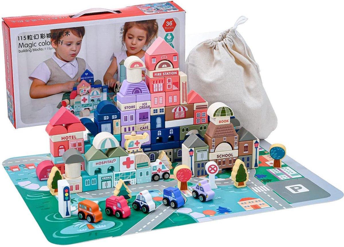 Wooden building blocks | speelblokken voor kinderen | duurzaam speelgoed
