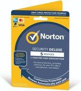 Norton Security Deluxe - 5 Apparaten - 1 Jaar - Beveiligingssoftware - DE