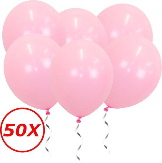 Roze Ballonnen Gender Reveal Babyshower Versiering Verjaardag Versiering Roze Helium Ballonnen Feest Versiering Roze 50 Stuks