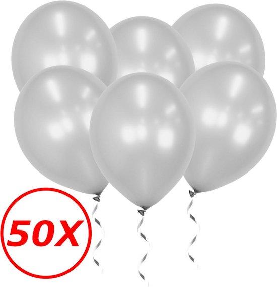 Zilveren Ballonnen Feestversiering Verjaardag 50st Metallic Zilver Ballon