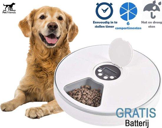 Pet Friends Automatische voerbak voor Hond en Kat - Incl. batterijen -...