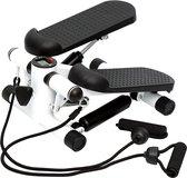 BrightWise® Stepper Inclusief Weerstandskabels - Stepper fitness - Mini stepper - Stepper fitnessapparaat - LCD-scherm