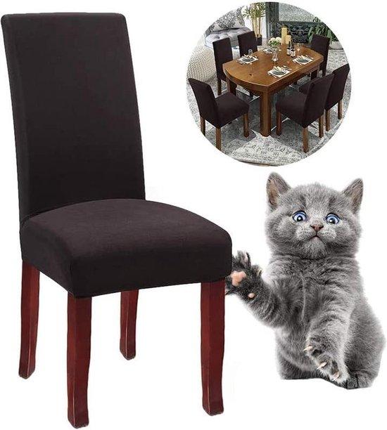 Stoelhoezen Eetekamerstoelen - Zinaps stoelhoezen, set van 4 of 6, elastische universele uitrusting voor eetkamerstoelen (WK 02130)
