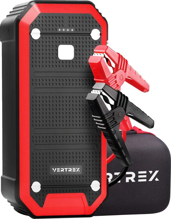 VERTREX VT-23 Jumpstarter 600A - Powerbank - Startkabels - Starthulp - Zaklamp en SOS Noodlicht
