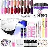Royala Gellak M3 Starterspakket + Inclusief UV Lamp + Met 20 Verschillende Gellak Kleuren - Gellak Lamp – Gellac Set - Alle Benodigdheden in Eén - Uitgebreid pakket