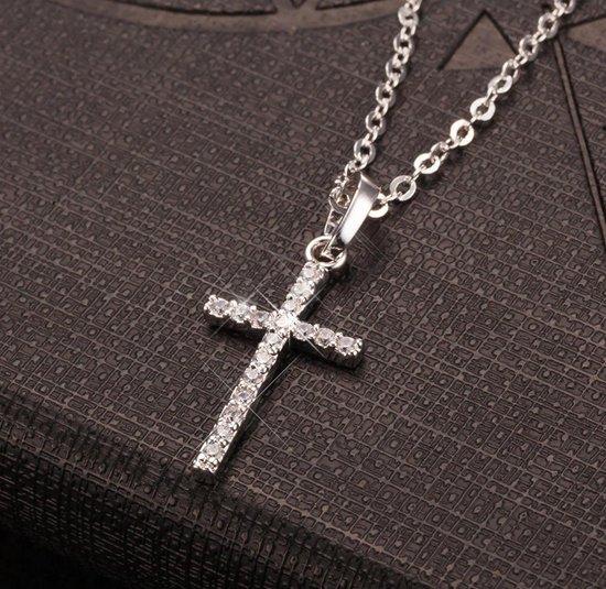 Cabantis Kruis Ketting Ketting Dames Ketting Heren Cadeau Voor Vrouw Cadeau Voor Man Sieraden Zilverkleurig