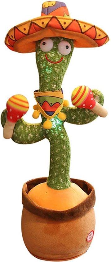 Kess® - Dansende cactus - dancing cactus - 120 liedjes - napratende knuffel - dans & zingt