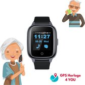 GPS Horloge 4 YOU - GPS Horloge Senior - Smartwatch voor Ouderen - GPS Tracker dementie - SOS Alarm - Gratis simkaart - Live GPS Locatie - 4G - (Video)bellen - Hartslag & Bloeddruk - SpO2 - Medicatie Herinnering - GPS Horloge Alzheimer - Valdetectie