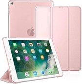 DrPhone Tri-Fold - Opvouwbare Cover - PU Lederen Case - Voorkant + Achterkant - Voor iPad Mini 5 - 7,9 Inch - 2019 - Rose Goud