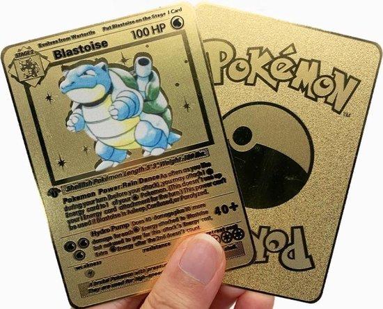 Thumbnail van een extra afbeelding van het spel Squirtle - Pokémon kaart inclusief beschermhoes - Goud - RVS