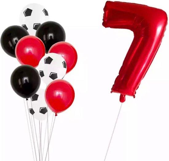 Voetbal Ballonnen 10 stuk Voetbal Thema Party Folie Helium Lucht Ballon Jongens Verjaardag Games Speelgoed Evenement Feestartikelen nummer 7
