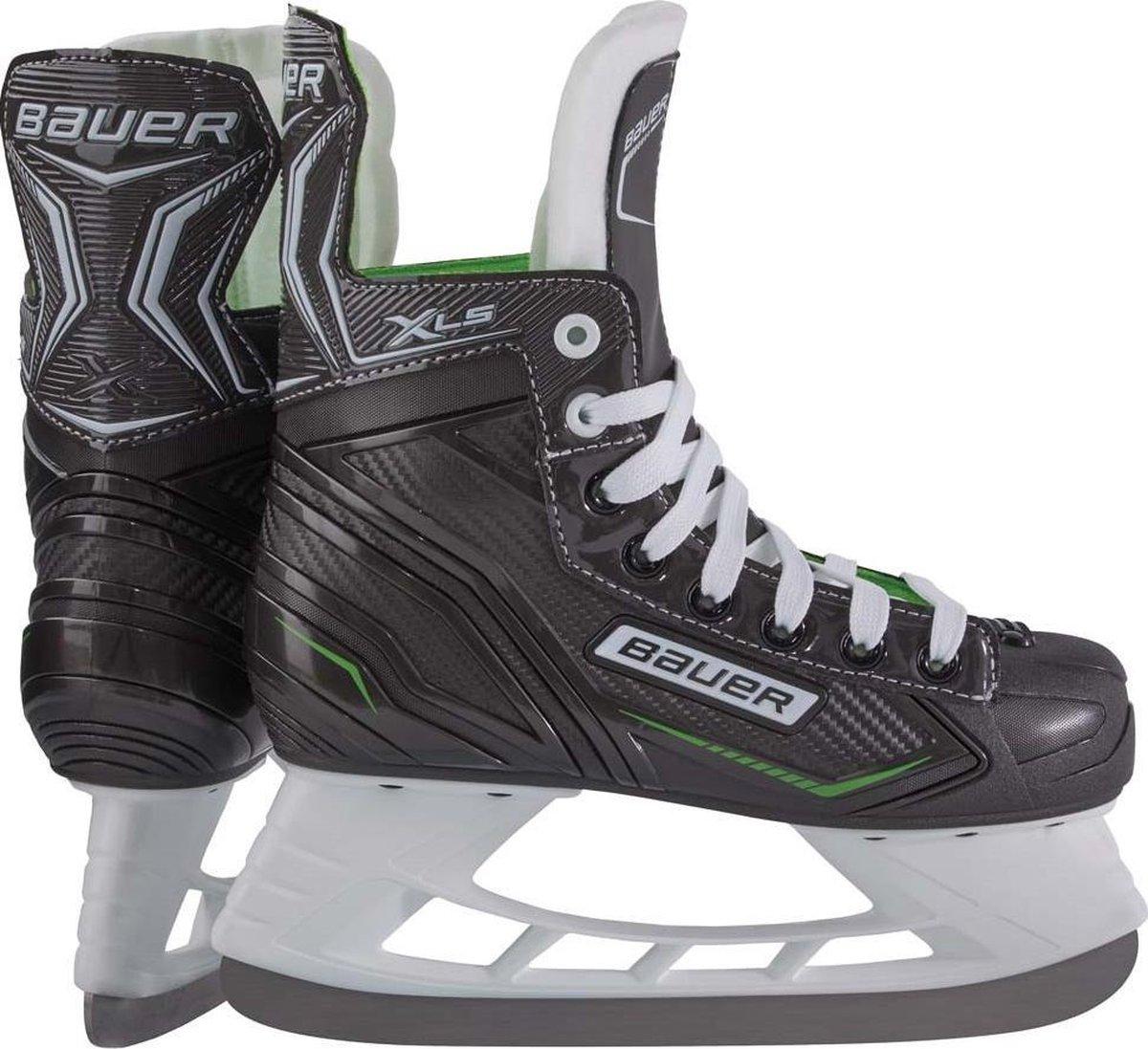 Bauer Ijshockeyschaatsen X-ls Junior Microfiber Zwart/groen Mt 35