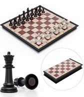 Magnetisch Schaakbord met Schaakstukken - Schaakspel - Schaakset - Opklapbaar