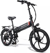 Samebike Elektrische vouwfiets - beste kwaliteit - Shimano 7 speed derailleur - 48V/8Ah lithium batterij - volledig aluminium -sportief/modern - 25km/u - mat antraciet