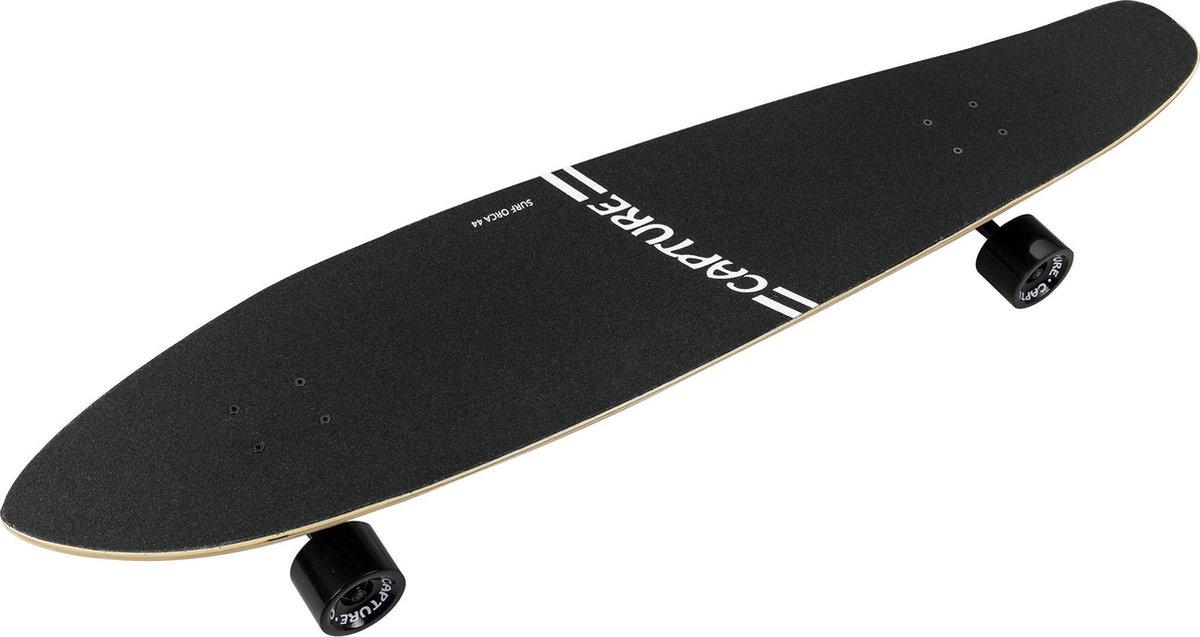 """Capture Outdoor, Longboard """"Bamboo Surf Orca 44"""", 112cm, 44,09"""", gemaakt van Esdoorn, Bamboe, ABEC-9 kogellagers, ideaal voor snelheid, ..."""