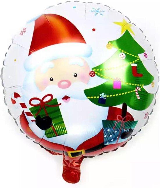 Kerstballon 18 inch sneeuwpop santa claus ronde ballon drijvende luchtbal festival feest decoratie ballon