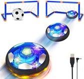 Faseras Hover Voetbal/Soccer Spel - Schijf met Lichten - 1 Doel - Lichtgevend - Indoor/Binnen - Air Voetbal