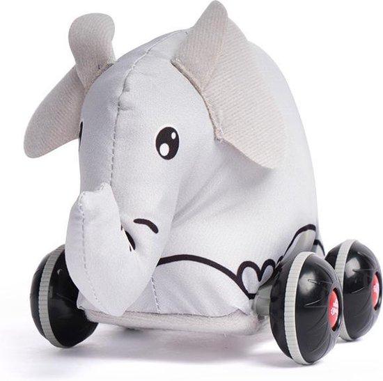 Loua's favorites pull back zachte Olifant - Terugtrek autootjes - Speelgoed auto - Speelgoed 1 jaar - Speelgoed 2 jaar - jongens speelgoed - meisjes speelgoed- speelfiguren