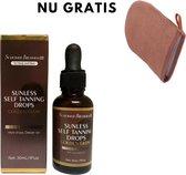 Zelfbruiner Drops - Selftan voor Gezicht/Lichaam  - Snelbruiner Medium 30 ML + gratis tannings handschoen (twv 12.99)