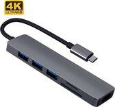LuxeLeague USB C HUB - USB HUB - USB C ADAPTER - MACBOOK DOCK - 3X USB 3.0 - 4K HDMI - UNIVERSEEL