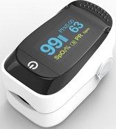 BURCH Med  ®    Saturatiemeter zuurstofmeter vinger - Oximeter - CE + FAGG Medische kwalificatie en inspectie - NL handleiding - Koord + Batt.