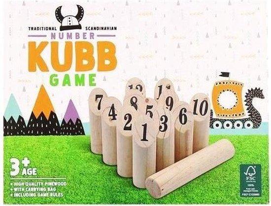 Kubb Original - Kub Spell Volwassenen en Kinderen - Alternatief Molkky - Kubbs - Kubben - Kubben Buitenspel Hout - Kubb Familiespel - Kubb Rubberhout - Buitenspelen