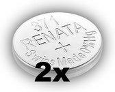 RENATA 371 / SR920SW zilveroxide knoopcel horlogebatterij 2 (twee) stuks
