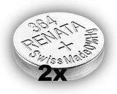 RENATA 364 / SR621SW zilveroxide knoopcel horlogebatterij 2 (twee) stuks