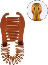 Bananenklem - Staartsierklem - Haarklem - Bruin - 1 stuks