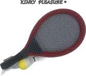 Kinky Pleasure - Racket XL - Tennis Set XL - Kinder Tennis Set - Backminton Kit