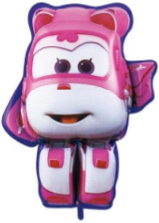Super Wings Dizzy ballon - XL - Roze - 81x70cm - Vliegtuigen - Verjaardag - Versiering kinderfeestje - Super Wings - Folie ballon - Feest - Leeg - Dizzy - Jett - Paul - Donnie