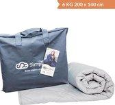 Verzwaringsdeken Katoen 6 KG Weighted Blanket – Nieuwste Generatie Verzwaarde Dekens – 200 x 140