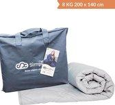 Verzwaringsdeken Katoen 8 KG Weighted Blanket – Nieuwste Generatie Verzwaarde Dekens – 200 x 140