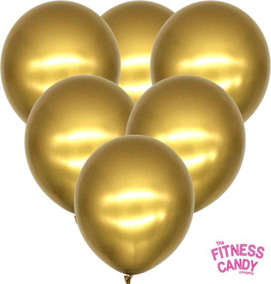 Metallic Ballonnen Goud - Set van 6
