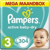 Pampers Baby Dry - Maat 3 - Mega Maandbox - 304 luiers