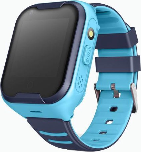 Wonlex GPS horloge kind - GPSHorlogeKids 4G videobellen - Smartwatch kind -tracker AQUA Wifi Blauw [IP67 Waterdicht] incl. SIM-kaart