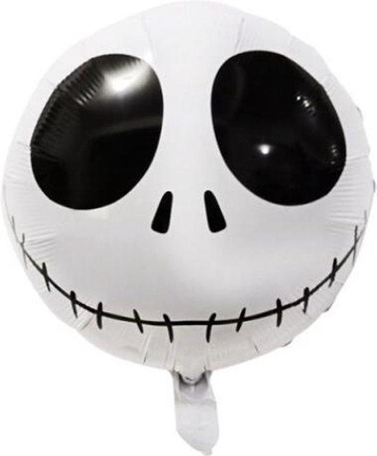Spook Ballon - 45x45cm - Hoofd - Eng - Ballonnen - Halloween - Thema feest - Verjaardag - Helium ballon - Horror - Folie ballon - Leeg - Halloween Versiering - Halloween accessoires - Halloween decoratie
