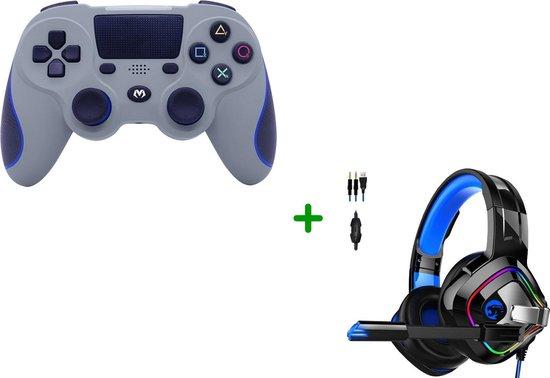 Wireless PS4-Controller Double-Shock + Gaming Headset met Microfoon voor PS4