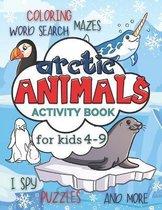Arctic Animals Activity Book for Kids 4-9