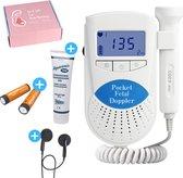 Pro bellia™ Doppler - Baby Hartje Monitor - Inclusief Ultrasound Gel, Batterijen & Oordopjes – Kraamcadeau Meisje
