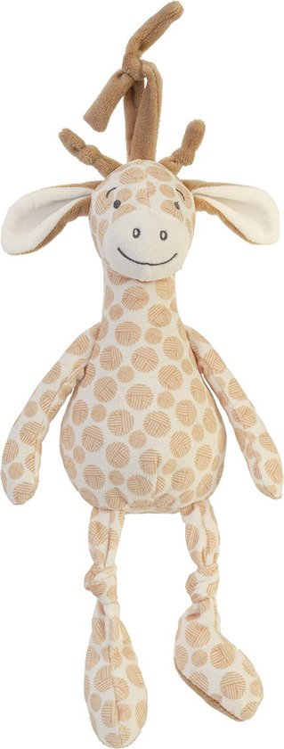 Happy Horse Giraf Gessy Muziek knuffel - Beige - Baby cadeau