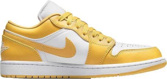 Nike Air Jordan 1 Low – Maat 43 – Geel/Wit – SNEAKERS