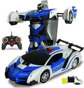 Rc Transformer auto – speelgoed auto met afstandsbediening – speelgoed auto jongens  - Bestuurbare auto