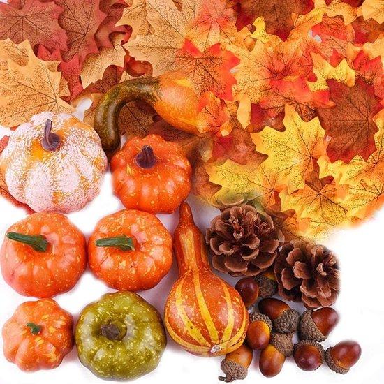 Herfst Decoratie | Herfst | Pompoen, Eikels, Dennenappels Decoratie | Halloween | Kunstmatig | 100 Stuks