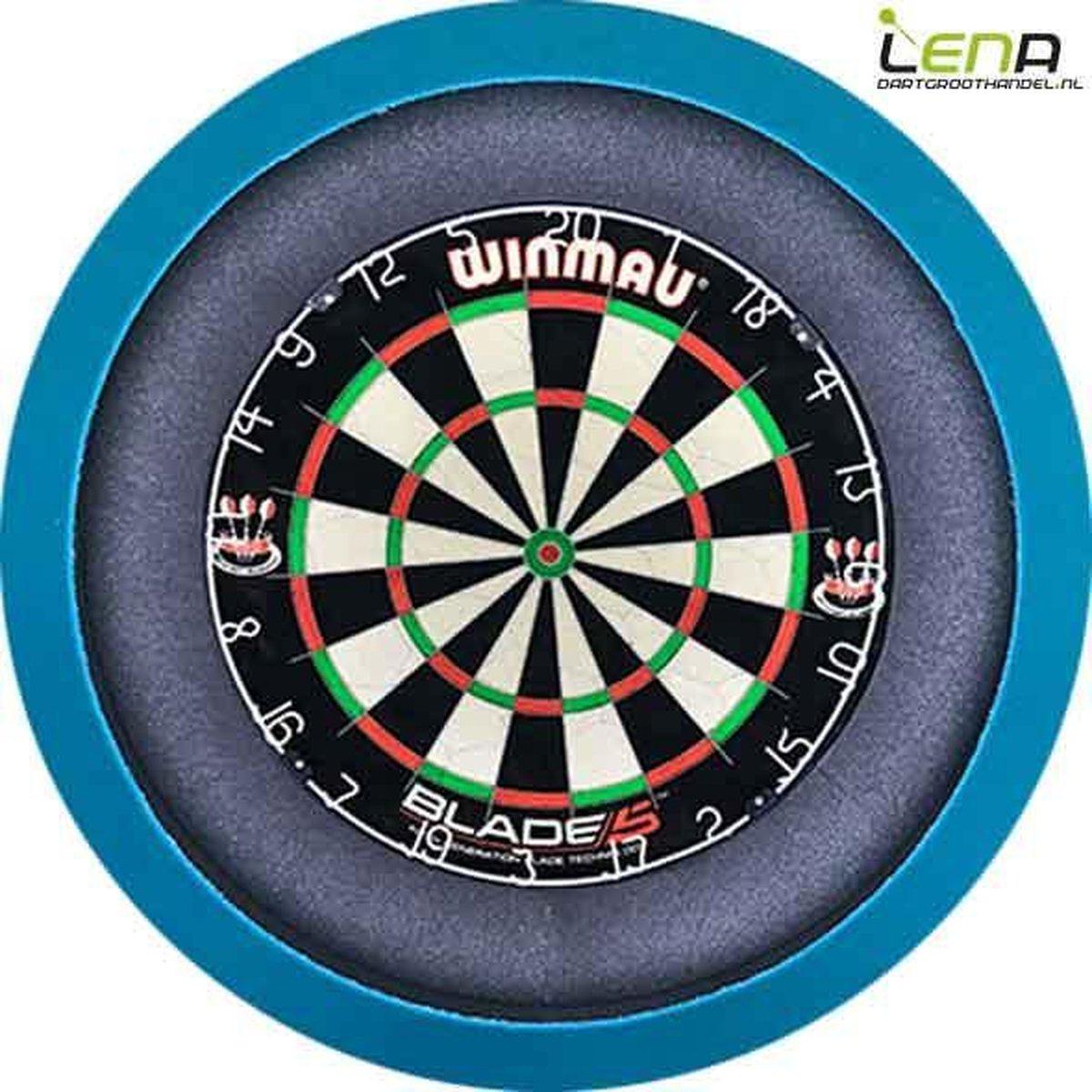 Dartbord met Verlichting Voordeelpakket (Blauw) + Blade 5 + Lena Basic XL