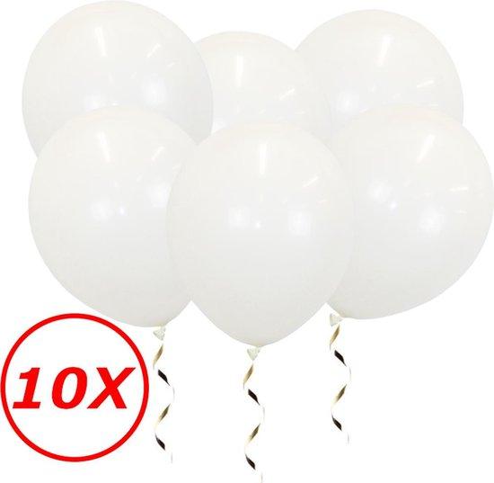 Witte Ballonnen Verjaardag Versiering Witte Helium Ballonnen Bruiloft Feest Versiering EK WK Koningsdag Wit 10 Stuks